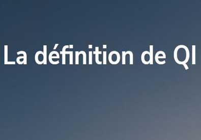 La définition de QI: image en évidence