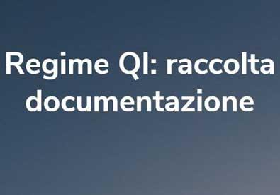 Regime QI raccolta documentazione | Foto in evidenza