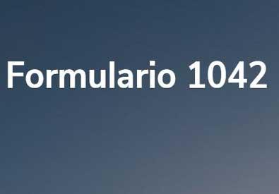 Formulario 1042: artículo foto